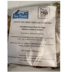 ST Whitefish Jerky Medium Crunchies 100g