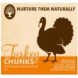 NTN Turkey Chunks Boneless WD 1kg