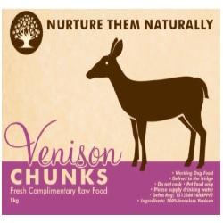NTN Venison Chunks Boneless WD 1kg